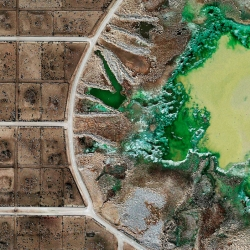 Feedlots, a new series from Mishka Henner, showing factory farms as seen from publicly available satellite images.