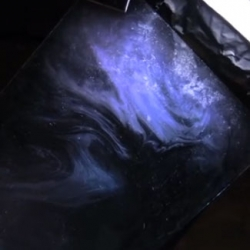 Shanks FX on creating the cosmos for PBS, using a sheet of glass, dust for stars, food coloring, water and milk to stunning effect.