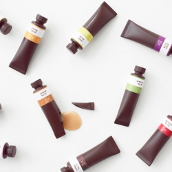 Studio Nendo's chocolate paint sets for Seibu Department Store.