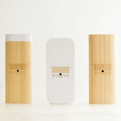 Japanese woodworking company moconoco create household shrines (Kamidana) modeled after the iphone.