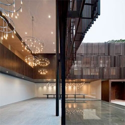 Beautiful use of inside and outside spaces in The Overlapping Land/House by Neri&Hu.