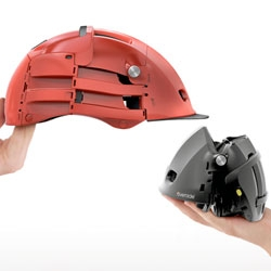 'Overade' foldable bike helmet. Agency 360 has created a bike helmet that you fold!