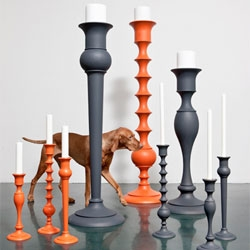 Monumental Holy candlesticks by Anki Gneib.