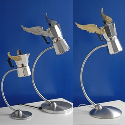 How awesome are these Moka lamps from Lamponi's Lamps ~ best use of the espresso makers, second to making espresso.
