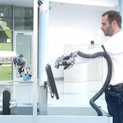 The ExoHand from Festo, an exoskeleton that can be worn like a glove.