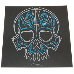 Ltd edition serigraph print by Rob Schwager. Included with the latest issue of I Want Your Skull.