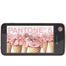 A phone with a built in radiation detector! The Pantone 5 107SH Android phone by Sharp for Softbank.