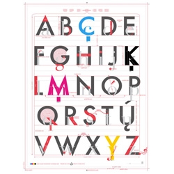The Alphabet of Typography, a new print from the Pop Chart Lab.