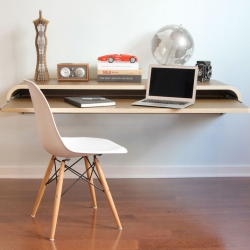 The Minimal Float Wall Desk designed by Dario Antonioni.