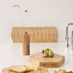 Gird Plank, cutting boards with a beautiful grooved side for serving from Daphna Laurens.