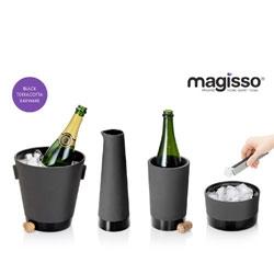 Sleek black terracotta barware by Simon Stevens for Magisso.