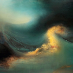 Stormy seas painted in oil by Samantha Keely Smith.