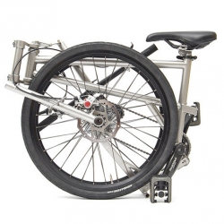 The Helix folding bike that collapses to the size of a wheel.