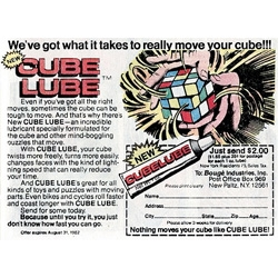 "Having experienced Cube Lube first hand ~ it really does make magic happen with a rubik's cube... ""because until you try it, you just don't know how fast you can go."" haha..."