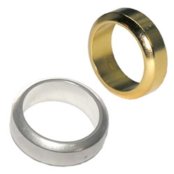 """N50 Magnet """"Wedding"""" Rings ~ strongest magnets around plated in silver and gold ~ clear a credit card or hd with the swipe of your hand?"""
