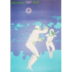 Awesome vintage olympics posters from Munich 1972 ~ love the fencing one!