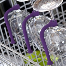 Tether, a flexible plastic rod to stabilize your glasses as they go through the dishwasher.