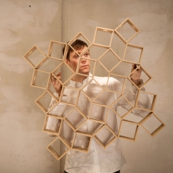 Ghostcubes, unusual hinges and attachments for cubes from juggler Erik Aberg.