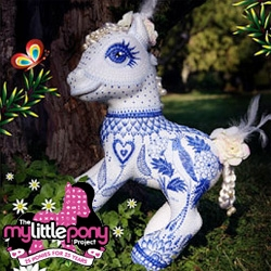 "The My Little Pony Project ~ also celebrating its 25th anniversary... from Catalina Estrada to Junko Mizuno and Toki Doki ~ artists are decorating 18"" My Little Ponies for the My Little Pony Project."