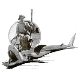 A fun archival gallery of Man v. Shark from Popular Science.