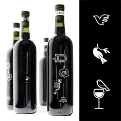 Nice iconic wine bottle designs were done by the design director of Zeus Jones, Brad Surcey