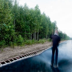 A 51m bouncy road in Russia, Fast Track by Salto Architects for the Archstoyanie festival in Nikola-Lenivets.