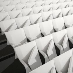 Beautiful Array auditorium seats by Zaha Hadid for Poltrona Frau Contract.