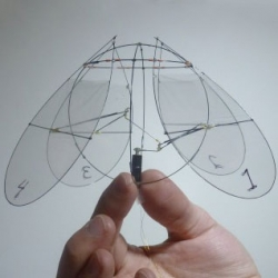 Leif Ristroph and colleagues at NYU create a 4 winged robot whose motion is inspired by the movement of jellyfish.