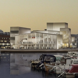 drdharchitects has won first place in the international competition to design two new public buildings; a library (5,500m²) and a three-auditorium concert hall (7,350m²), for the Norwegian coastal city of Bodø.
