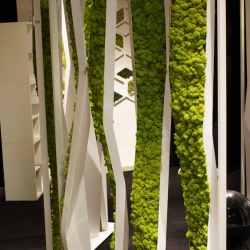 Nice discovery in Zona Tortona, collection of furniture incorporating plants from Verde Profilo.