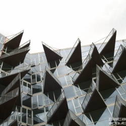 These apartments feature an amazing facade, very eye-catching. VM House/Bjarke Ingels Group BIG