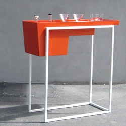 Shown at the Salone Satellite in Milan last month, the Vodka Trolley by PUNGA & SMITH is an indoor out bar for the home.