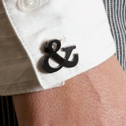 Ampersand cuff links from veer!!