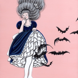 New Halloween series of small paintings by artist Kiersten Essenpreis for  upcoming show at Gallery 1988 LA.