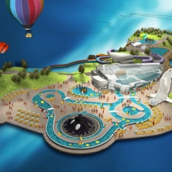"Today it was announced that the new Norwegian water park ""Vannvittigland"" will open in Kristiansand June the 25th next year! Here are some teaser-illustrations of the water park by Grid Design."