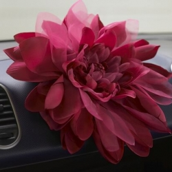 The UK's Vauxhall Agila has teamed up with British accessories designer, Johnny Loves Rosie to create the first ever Car-sage - a giant flower corsage designed for your car. It retails for £14.99. The ultimate Christmas gift for a car lover?