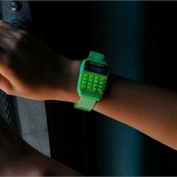 Awesomely affordable glow in the dark Vestal Datamat Watch calculator.