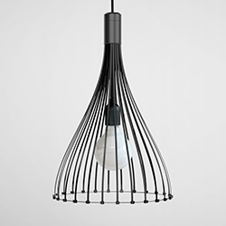 Twenty-six cable ties make up this pendant lamp that London studio Vitamin is exhibiting at Clerkenwell Design Week.