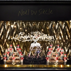 It's the Noël du Siècle at Galeries Lafayette, Paris: with window displays sponsored by Louis Vuitton, Disney and Swarovski.