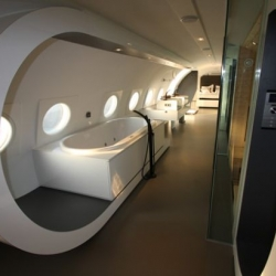 An old German aircraft transformed into a luxury hotel for 2.