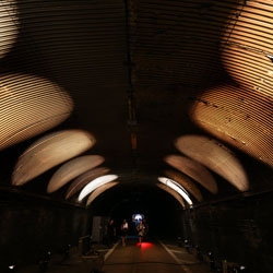 A rare opportunity to walk through the Park Avenue Tunnel which gets transformed into an interactive sound and light art installation by Raphael Lozano-Hemmer for NYC's Summer Streets starting August 3rd.