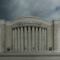 Summer break – the vanguard Berlin theater Volksbühne closed its doors barricading the iconic limestone facade with five additional columns. The architectural collective osa – office for subversive architecture realized this temporary installation.