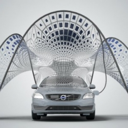 The SDA just unveiled a gorgeous solar-charging canopy for the Volvo V60 Plug-in Hybrid.