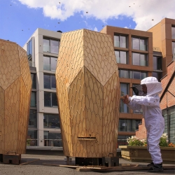 Designed with inspiration from its buzzing residents, Oslo's hottest new lodging designed by Snohetta, is strictly for bees only.