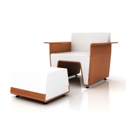 W Lounge Chair, designed by Daisuke Nagatomo and Minnie Jan / MisoSoupDesign won OFS the Hotseat 3 Competition. W Lounge Chair will be debuted by OFS at Neocon 2009.