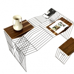 "W.Wong, truly modular office draw from its own metal competition. ""A line in the outline of an object"""