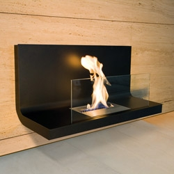 "Radius makes some beautiful wall mounted and free standing ""home flames"" that you and i might call ""fireplaces"" of sorts."