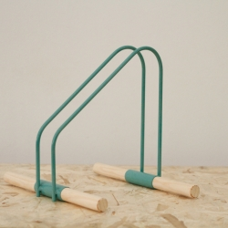 WAO Bike Stand launched this weekend at the Barcelona Design Museum. By Sandra García and Sergio Mendoza.