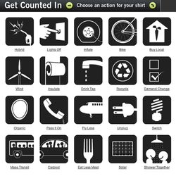 WE ADD UP! Gorgeous set of icons for climate change awareness and the little things that add up to big changes.