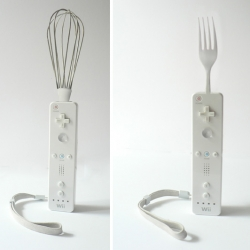 Between art and design, some amazing and cool wiimotes revisited by french designer  Rodolphe Dogniaux.